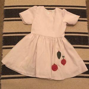 Dondolo White Corduroy Christmas Dress